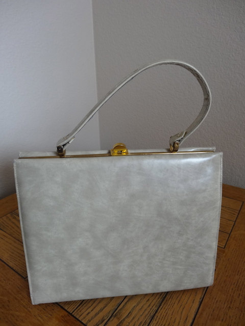 Vintage 1950's Kelly Style Handbag - Pale Green