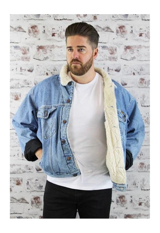 Vintage wrangler sherpa jacket