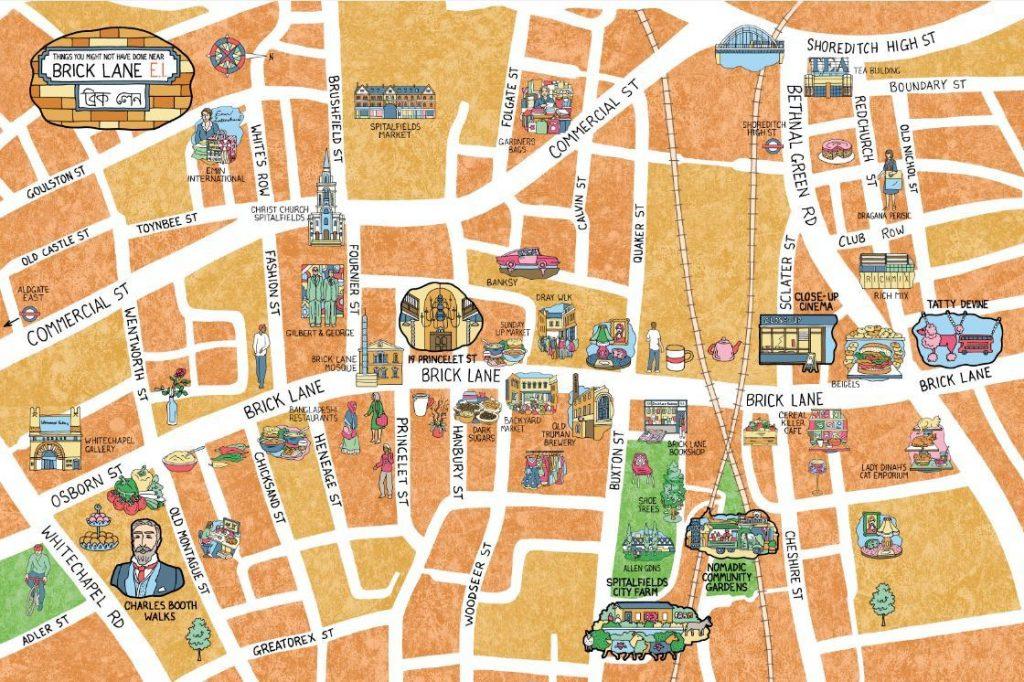 brick lane vintage map